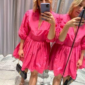 H&M Pink Balloon Dress - SIZE 08